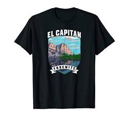 El Capitan Retro Yosemite National Park Vintage Graphic T-Shirt von Yosemite Half Dome Graphic Threads