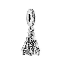 ZHANGCHEN 925 Sterling Silver Bead Parks Couples Forever Dangle Charm Fit Fashion Women Pan Bracelet Bangle Gift DIY Jewelry von ZHANGCHEN