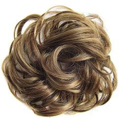 ZHOUBAA Messy Hair Bun Extensions Curly Wavy Messy Synthetisches Chignon Haarteil Scrunchie Scrunchy Hochsteckfrisur Haarteil Für Frauen 11 von ZHOUBAA