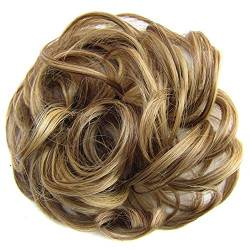ZHOUBAA Messy Hair Bun Extensions Curly Wavy Messy Synthetisches Chignon Haarteil Scrunchie Scrunchy Hochsteckfrisur Haarteil Für Frauen 14 von ZHOUBAA