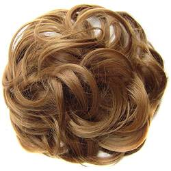 ZHOUBAA Messy Hair Bun Extensions Curly Wavy Messy Synthetisches Chignon Haarteil Scrunchie Scrunchy Hochsteckfrisur Haarteil Für Frauen 17 von ZHOUBAA