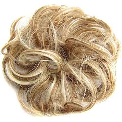 ZHOUBAA Messy Hair Bun Extensions Curly Wavy Messy Synthetisches Chignon Haarteil Scrunchie Scrunchy Hochsteckfrisur Haarteil Für Frauen 19 von ZHOUBAA
