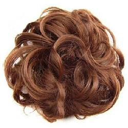 ZHOUBAA Messy Hair Bun Extensions Curly Wavy Messy Synthetisches Chignon Haarteil Scrunchie Scrunchy Hochsteckfrisur Haarteil Für Frauen 20 von ZHOUBAA