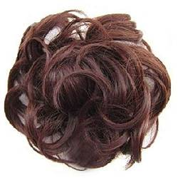 ZHOUBAA Messy Hair Bun Extensions Curly Wavy Messy Synthetisches Chignon Haarteil Scrunchie Scrunchy Hochsteckfrisur Haarteil Für Frauen 21 von ZHOUBAA