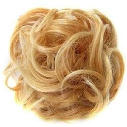 ZHOUBAA Messy Hair Bun Extensions Curly Wavy Messy Synthetisches Chignon Haarteil Scrunchie Scrunchy Hochsteckfrisur Haarteil Für Frauen 23 von ZHOUBAA