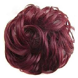 ZHOUBAA Messy Hair Bun Extensions Curly Wavy Messy Synthetisches Chignon Haarteil Scrunchie Scrunchy Hochsteckfrisur Haarteil Für Frauen 24 von ZHOUBAA