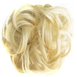 ZHOUBAA Messy Hair Bun Extensions Curly Wavy Messy Synthetisches Chignon Haarteil Scrunchie Scrunchy Hochsteckfrisur Haarteil Für Frauen 22 von ZHOUBAA