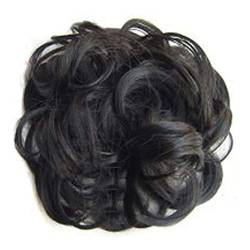 ZHOUBAA Messy Hair Bun Extensions Curly Wavy Messy Synthetisches Chignon Haarteil Scrunchie Scrunchy Hochsteckfrisur Haarteil Für Frauen 2 von ZHOUBAA