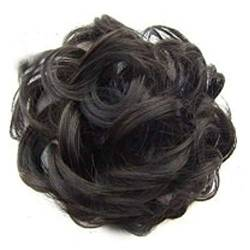 ZHOUBAA Messy Hair Bun Extensions Curly Wavy Messy Synthetisches Chignon Haarteil Scrunchie Scrunchy Hochsteckfrisur Haarteil Für Frauen 3 von ZHOUBAA