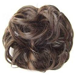 ZHOUBAA Messy Hair Bun Extensions Curly Wavy Messy Synthetisches Chignon Haarteil Scrunchie Scrunchy Hochsteckfrisur Haarteil Für Frauen 4 von ZHOUBAA
