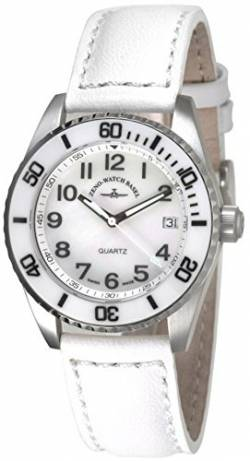 Zeno-Watch Damenuhr - Diver Ceramic Medium Size - White - 6642-515Q-s2 von Zeno