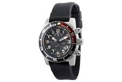 Zeno-Watch Herrenuhr - Airplane Diver Quartz Chronograph Numbers, Black/red - 6349Q-Chrono-a1-7 von Zeno Watch Basel