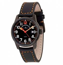 Zeno-Watch Herrenuhr - Classic Pilot Date Black&orange - 3315Q-bk-a15 von Zeno Watch Basel