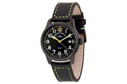 Zeno-Watch Herrenuhr - Classic Pilot Date Black&Yellow - 3315Q-bk-a19 von Zeno Watch Basel