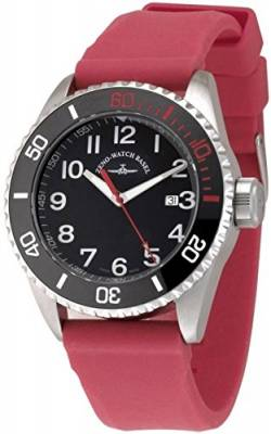 Zeno-Watch Herrenuhr - Diver Ceramic Quartz Black+red - 6492-515Q-a1-17 von Zeno Watch Basel