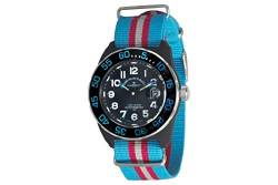 Zeno-Watch Herrenuhr - Diver Look H3 Teflon Black&Blue - 6594Q-a14-Nato-47 von Zeno Watch Basel
