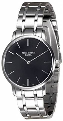 Zeno-Watch Herrenuhr - Flat Flatline 2 Black - 6600Q-c1M von Zeno Watch Basel