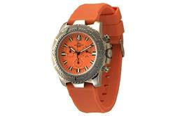 Zeno-Watch Herrenuhr - Hercules Chronograph Big Date orange - 3654Q-a5 von Zeno Watch Basel