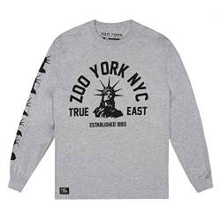 Zoo York Herren Wrapped Statue Long Sleeve T-Shirt, Heather Grey, Small von Zoo York