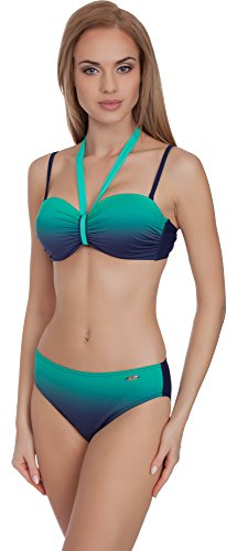 aQuarilla Damen Bikini Set 71H191 (Navy/Minze, 38) von aQuarilla