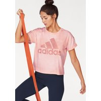 Große Größen: adidas Performance T-Shirt »WOMEN ESSENTIAL ALL OVER PRINT TEE«, rosa, Gr.L-XXL von adidas Performance