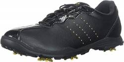 adidas Damen W Adipure DC Golfschuh, Core Black/Gold Met./Core Black, 6.5 Medium US von adidas