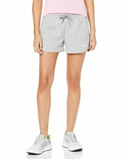 adidas Damen W E PLN Shorts, Grau (medium grey heather), L von adidas