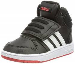 adidas Unisex Baby Hoops Mid 2.0 Sneaker, Core Black/Cloud White/Vivid Red, 23 EU von adidas
