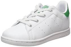 adidas Unisex Baby Stan Smith EL Sneaker, Cloud White/Cloud White/Green, 21 EU von adidas