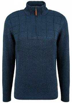 Blend Ostuta Herren Strickpullover Troyer Grobstrick Pullover, Größe:M, Farbe:Dress Blues (194024) von b BLEND