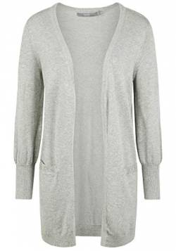 b.young Damen Bypimba Long Cardigan Strickjacke, Grau (Med. Grey Mel. 80026), Small (Herstellergröße: S) von b.young