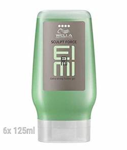 6x Wella Professionals Styling EIMI Sculpt Force Flubber Gel - 125ml von Wella Eimi