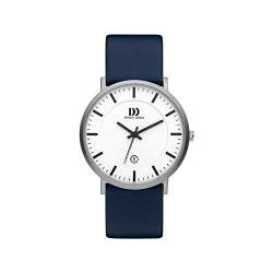 Danish Design Steel Herrenuhr Analog Quartz Leder Blau IQ12Q1157 von Danish Design
