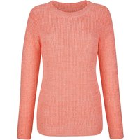 BASICALLY YOU Pullover langarm uni Gerade blickdicht Kunstfaser Pullover apricot Damen Gr. 52 von BASICALLY YOU