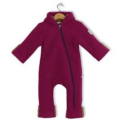 bubble.kid berlin - Winter Overall Anu, Tec Doublefleece, Grösse 74-80 (6-12 Monate), Farbe: cyclam von bubble.kid berlin