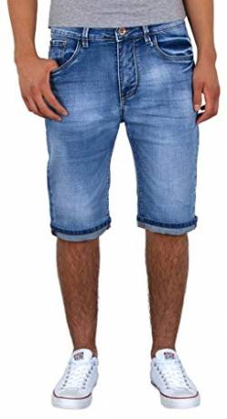 by-tex ESRA Herren Jeans Shorts Basic Jeans Shorts Kurze Bermuda Shorts Used Look Kurze Hose A415 von by-tex