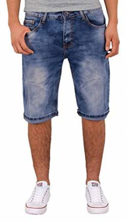by-tex ESRA Herren Jeans Shorts Kurze Bermuda Shorts Used Look Kurze Hose Basic Jeans Shorts AS430 von by-tex
