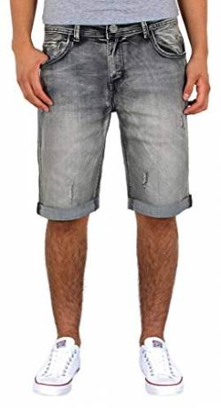 by-tex ESRA Herren Jeans Shorts Kurze Bermuda Shorts Used Look Kurze Hose Basic Jeans Shorts AS431 von by-tex