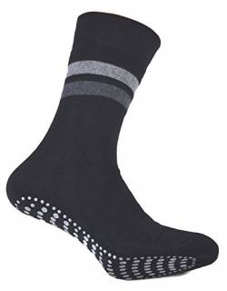 2er Pack Damen & Herren Socken mit ABS Noppen, ohne Gummi, Thermo Socken Frottee, Anti Rutsch Socke, Stoppersocken, anthrazit, Gr. 39/42… von cocain