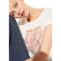 comma, casual identity T-Shirt mit Ausbrennermuster T-Shirts weiß Damen Gr. 34 von comma, casual identity