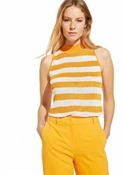 comma Damen 81.003.63.4975 T-Shirt, 14G2 Yellow Stripes, 42 von comma