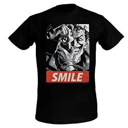Joker Herren T-Shirt Batman Killing Joke Smile Baumwolle schwarz - XXL von cotton division