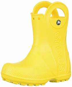 Crocs Handle It Rain Boot, Unisex - Kinder Gummistiefel, Gelb (Yellow), 33/34 EU von crocs