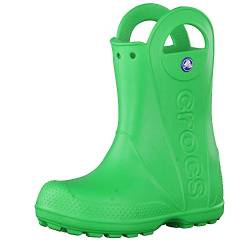 Crocs Handle It Rain Boot, Unisex - Kinder Gummistiefel, Grün (Grass Green), 32/33 EU von crocs