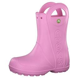 Crocs Handle It Rain Boot, Unisex - Kinder Gummistiefel, Pink (Carnation), 32/33 EU von crocs
