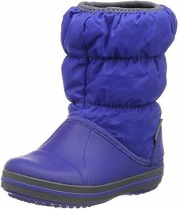 Crocs Winter Puff Boot Kids, Unisex - Kinder Schneestiefel, Blau (Cerulean Blue/Light Grey), 25/26 EU von crocs