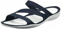 Crocs Damen Swiftwater Women Sandalen, Blau (Navy/White 462), 34/35 EU von crocs