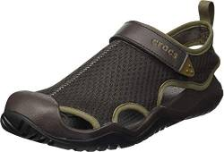 Crocs Herren Swiftwater Mesh Deck Sandal M Zehentrenner, Brown, 42/43 EU von Crocs