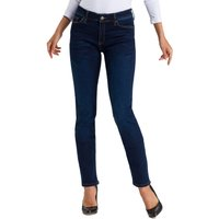 Cross Jeans Damen Jeans Anya - Slim Fit - Blau - Dark Blue von cross jeans