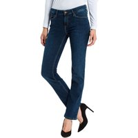 Cross Jeans Damen Jeans Rose - Regular Fit - Blau - Dark Used von cross jeans